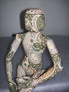 Green Paisley doll 2