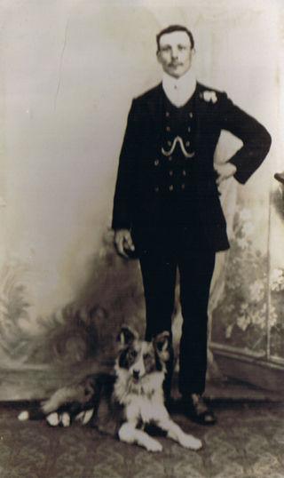 George Seaman and Dog